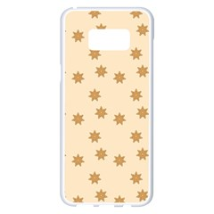Pattern Gingerbread Star Samsung Galaxy S8 Plus White Seamless Case by Onesevenart