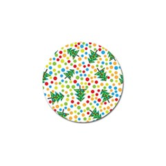 Pattern Circle Multi Color Golf Ball Marker (10 Pack) by Onesevenart