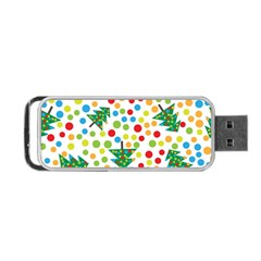 Pattern Circle Multi Color Portable Usb Flash (two Sides) by Onesevenart