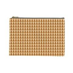 Pattern Gingerbread Brown Cosmetic Bag (large)  by Onesevenart