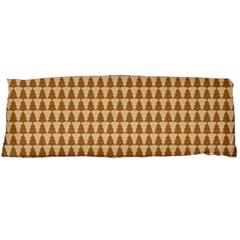 Pattern Gingerbread Brown Body Pillow Case Dakimakura (two Sides) by Onesevenart