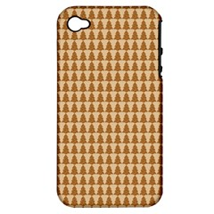 Pattern Gingerbread Brown Apple Iphone 4/4s Hardshell Case (pc+silicone) by Onesevenart