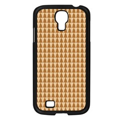Pattern Gingerbread Brown Samsung Galaxy S4 I9500/ I9505 Case (black) by Onesevenart