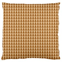 Pattern Gingerbread Brown Standard Flano Cushion Case (one Side) by Onesevenart