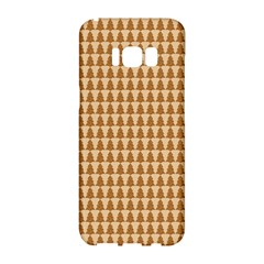 Pattern Gingerbread Brown Samsung Galaxy S8 Hardshell Case  by Onesevenart
