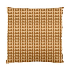 Pattern Gingerbread Brown Standard Cushion Case (two Sides) by Onesevenart
