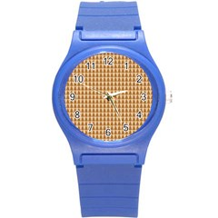 Pattern Gingerbread Brown Round Plastic Sport Watch (s) by Onesevenart