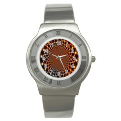Pattern Texture Star Rings Stainless Steel Watch by Onesevenart