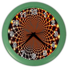 Pattern Texture Star Rings Color Wall Clocks by Onesevenart