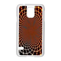 Pattern Texture Star Rings Samsung Galaxy S5 Case (white) by Onesevenart