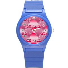 Seamless Repeat Repeating Pattern Round Plastic Sport Watch (s) by Onesevenart