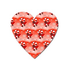 Seamless Repeat Repeating Pattern Heart Magnet by Onesevenart
