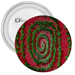 Red Green Swirl Twirl Colorful 3  Buttons by Onesevenart