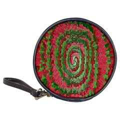 Red Green Swirl Twirl Colorful Classic 20 Cd Wallets by Onesevenart