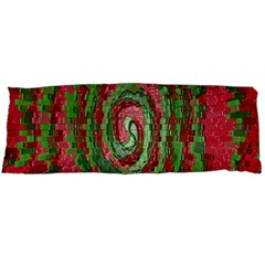 Red Green Swirl Twirl Colorful Body Pillow Case Dakimakura (two Sides) by Onesevenart