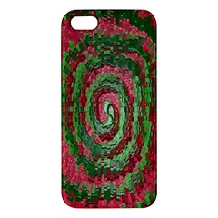 Red Green Swirl Twirl Colorful Apple Iphone 5 Premium Hardshell Case by Onesevenart