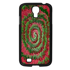 Red Green Swirl Twirl Colorful Samsung Galaxy S4 I9500/ I9505 Case (black) by Onesevenart
