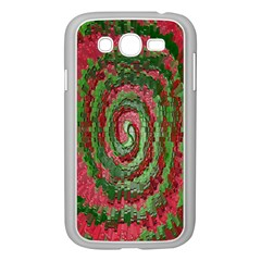 Red Green Swirl Twirl Colorful Samsung Galaxy Grand Duos I9082 Case (white) by Onesevenart