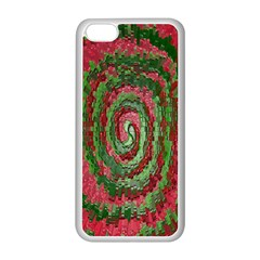 Red Green Swirl Twirl Colorful Apple Iphone 5c Seamless Case (white) by Onesevenart