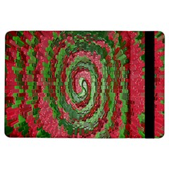 Red Green Swirl Twirl Colorful Ipad Air Flip by Onesevenart