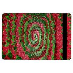 Red Green Swirl Twirl Colorful Ipad Air 2 Flip by Onesevenart