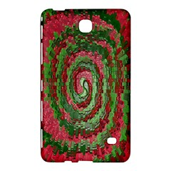 Red Green Swirl Twirl Colorful Samsung Galaxy Tab 4 (8 ) Hardshell Case  by Onesevenart