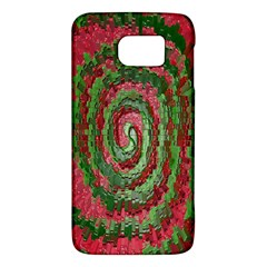 Red Green Swirl Twirl Colorful Galaxy S6 by Onesevenart