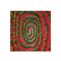 Red Green Swirl Twirl Colorful Satin Bandana Scarf by Onesevenart