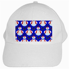 Seamless Repeat Repeating Pattern White Cap by Onesevenart