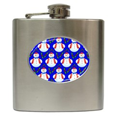 Seamless Repeat Repeating Pattern Hip Flask (6 Oz) by Onesevenart