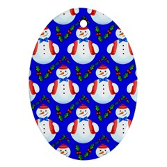 Seamless Repeat Repeating Pattern Oval Ornament (two Sides) by Onesevenart