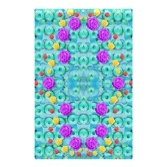 Season For Roses And Polka Dots Shower Curtain 48  X 72  (small)  by pepitasart