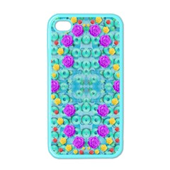 Season For Roses And Polka Dots Apple Iphone 4 Case (color) by pepitasart
