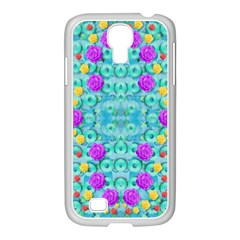 Season For Roses And Polka Dots Samsung Galaxy S4 I9500/ I9505 Case (white) by pepitasart