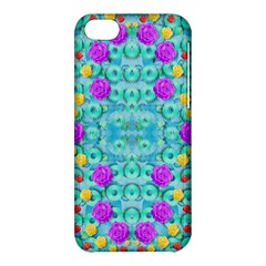 Season For Roses And Polka Dots Apple Iphone 5c Hardshell Case by pepitasart