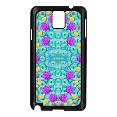 Season For Roses And Polka Dots Samsung Galaxy Note 3 N9005 Case (black) by pepitasart