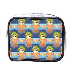 Seamless Repeat Repeating Pattern Mini Toiletries Bags by Onesevenart