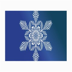 Snow Flake Crystal Snow Winter Ice Small Glasses Cloth (2 Side) by Onesevenart