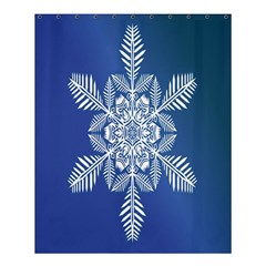 Snow Flake Crystal Snow Winter Ice Shower Curtain 60  X 72  (medium)  by Onesevenart