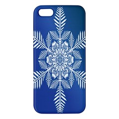 Snow Flake Crystal Snow Winter Ice Apple Iphone 5 Premium Hardshell Case by Onesevenart