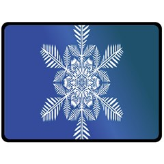 Snow Flake Crystal Snow Winter Ice Double Sided Fleece Blanket (large)  by Onesevenart