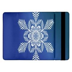 Snow Flake Crystal Snow Winter Ice Samsung Galaxy Tab Pro 12 2  Flip Case by Onesevenart
