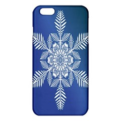 Snow Flake Crystal Snow Winter Ice Iphone 6 Plus/6s Plus Tpu Case by Onesevenart