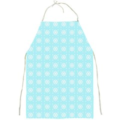 Snowflakes Paper Christmas Paper Full Print Aprons by Onesevenart