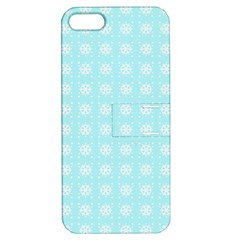 Snowflakes Paper Christmas Paper Apple Iphone 5 Hardshell Case With Stand by Onesevenart