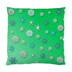 Snowflakes Winter Christmas Overlay Standard Cushion Case (one Side) by Onesevenart