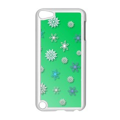 Snowflakes Winter Christmas Overlay Apple Ipod Touch 5 Case (white) by Onesevenart