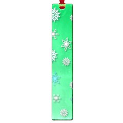 Snowflakes Winter Christmas Overlay Large Book Marks by Onesevenart