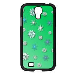 Snowflakes Winter Christmas Overlay Samsung Galaxy S4 I9500/ I9505 Case (black) by Onesevenart