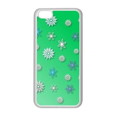 Snowflakes Winter Christmas Overlay Apple Iphone 5c Seamless Case (white) by Onesevenart